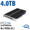 4.0TB OWC Accelsior 4M2 PCIe 3.0 M.2 NVMe SSD Solution