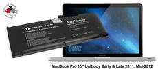 "Battery MacBook Pro 15"" Unibody Early 2011 till Mid-2012 + Tools"